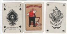 Advertising collectible playing cards . Andrew's Liver Salts.